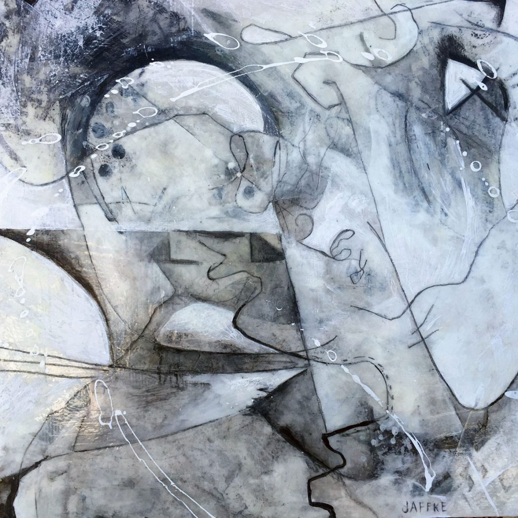 """Mixed media on wood panel by Janet Jaffke """"Twisted"""""""