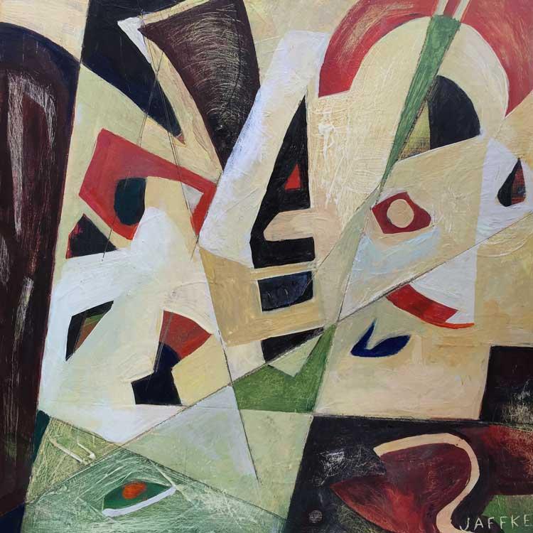 """Janet Jaffke acrylic mixed media painting """"Fragmented"""""""