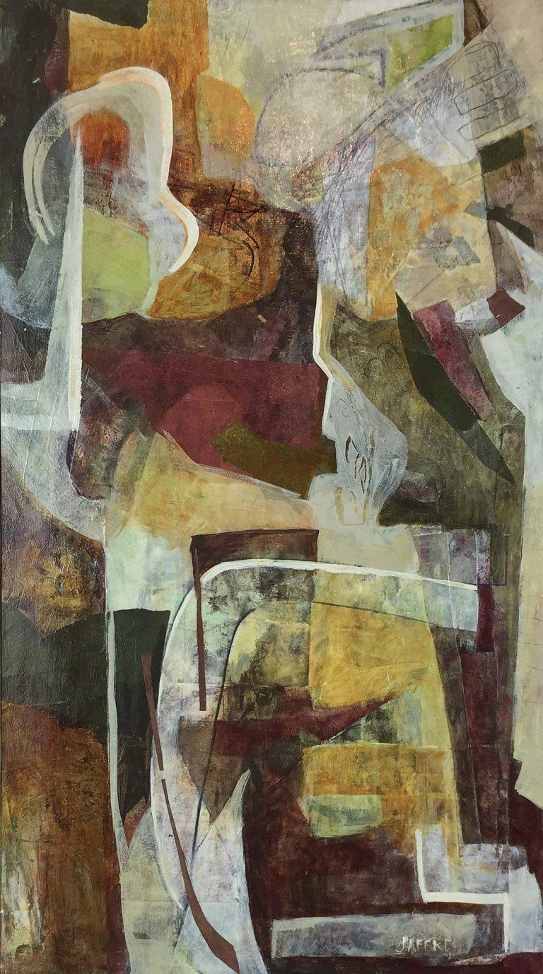 """Janet Jaffke acrylic mixed media painting """"Mélange II"""""""