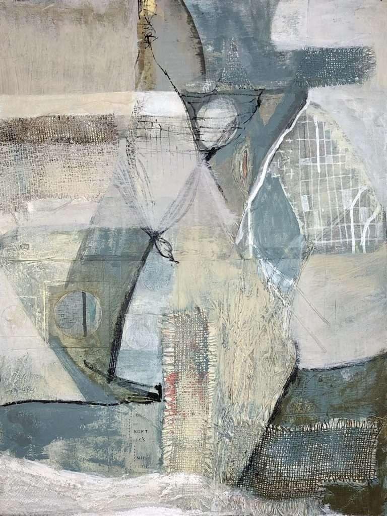 Janet Jaffke acrylic mixed media on wood