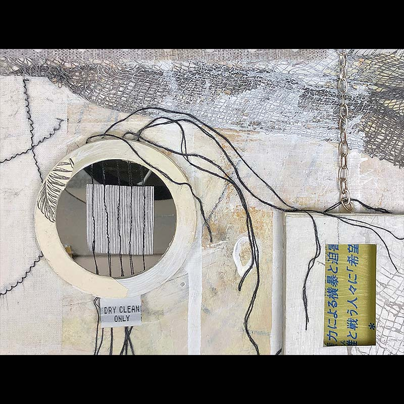 Mixed media detail by Janet Jaffke