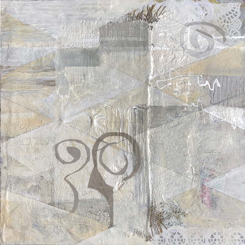Mixed media collage by artist Janet Jaffke