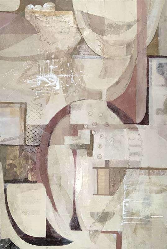 Mixed media artwork by artist Janet Jaffke
