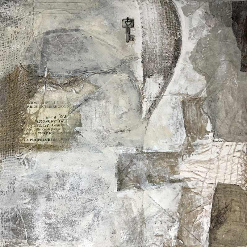 Acrylic and mixed media painting by artist Janet Jaffke