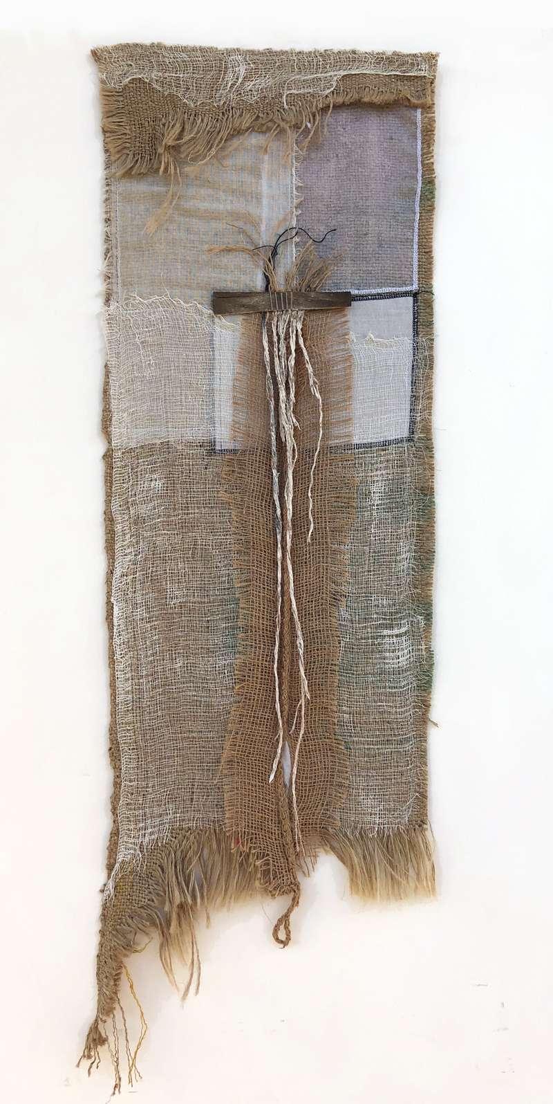 Burlap and Fiber Art by Janet Jaffke