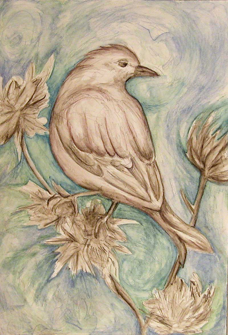 Bird and Thistle by Janet Jaffke