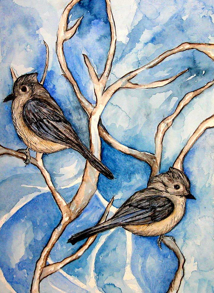 Bluebirds by Janet Jaffke