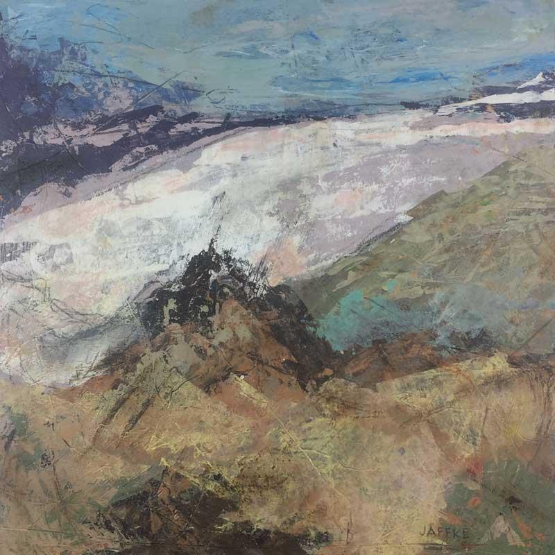 """Janet Jaffke acrylic mixed media painting """"Deserted"""""""