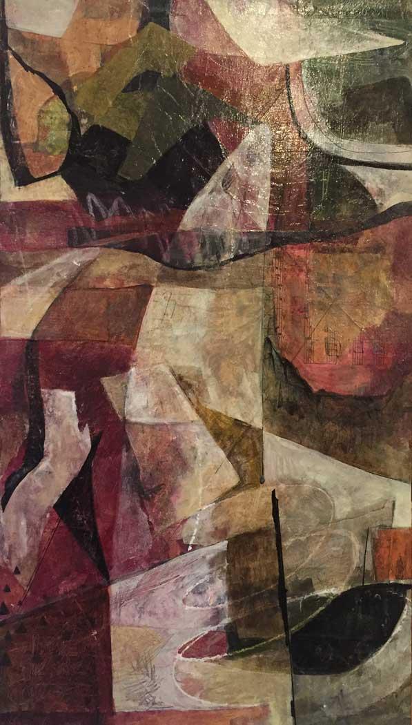 """Janet Jaffke acrylic mixed media painting """"Mélange I"""""""