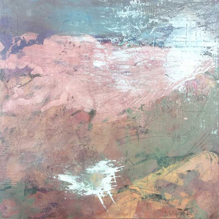 "Janet Jaffke acrylic mixed media painting ""Mirage"""