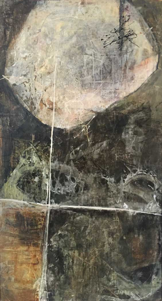 """Janet Jaffke acrylic mixed media painting """"Oasis"""""""
