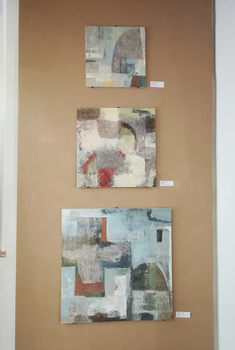 Mixed media on wood by Janet Jaffke - Florence Exhibition