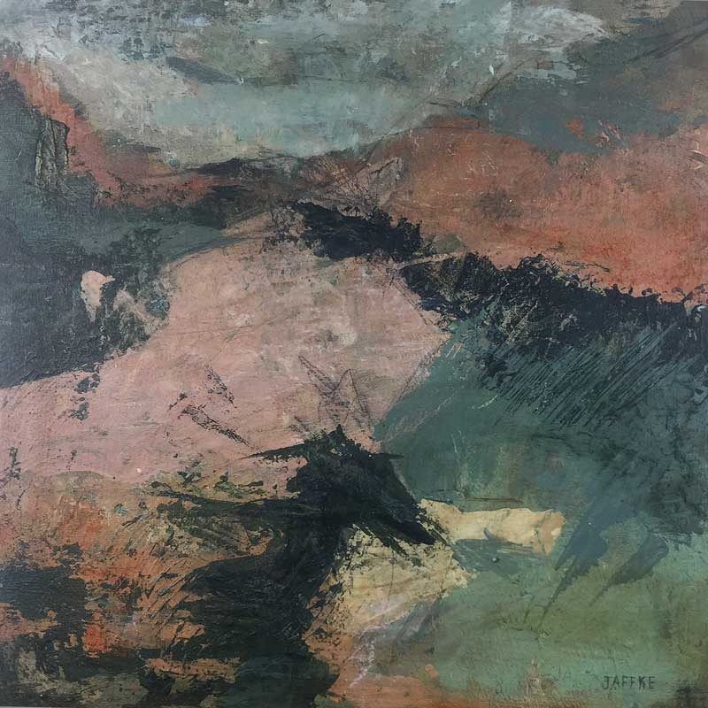"Janet Jaffke acrylic mixed media painting ""The Long Way"""