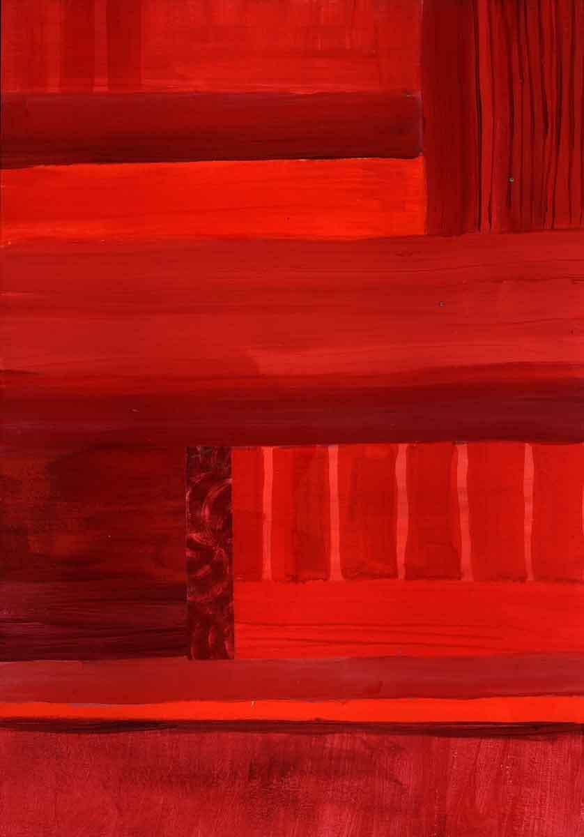 Janet Jaffke - monochromatic stripes in red #1