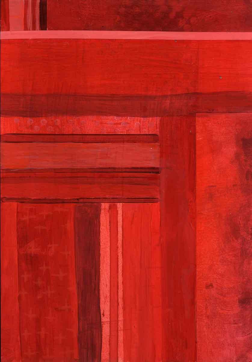Janet Jaffke - monochromatic stripes in red #2