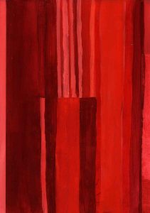 Janet Jaffke - monochromatic stripes in red #4