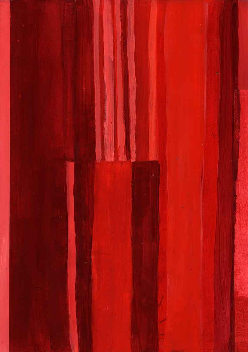 Janet Jaffke - monochromatic stripes in red #4