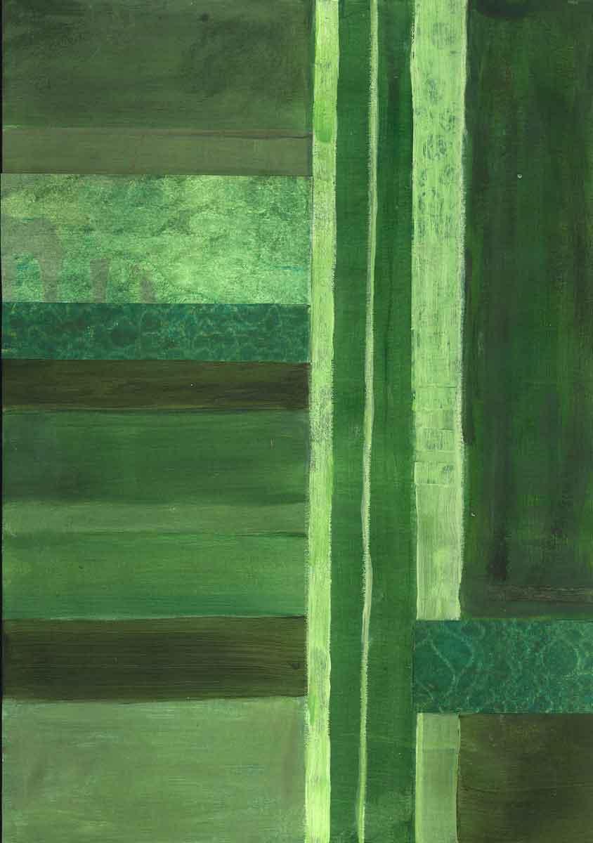 Janet Jaffke - monochromatic stripes in green #2