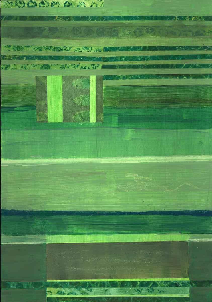 Janet Jaffke - monochromatic stripes in green#1