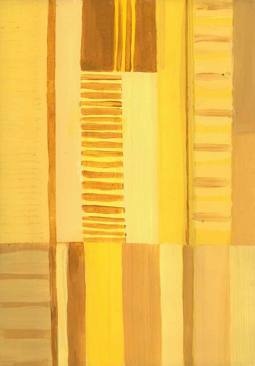 Janet Jaffke - monochromatic stripes in yellow #3