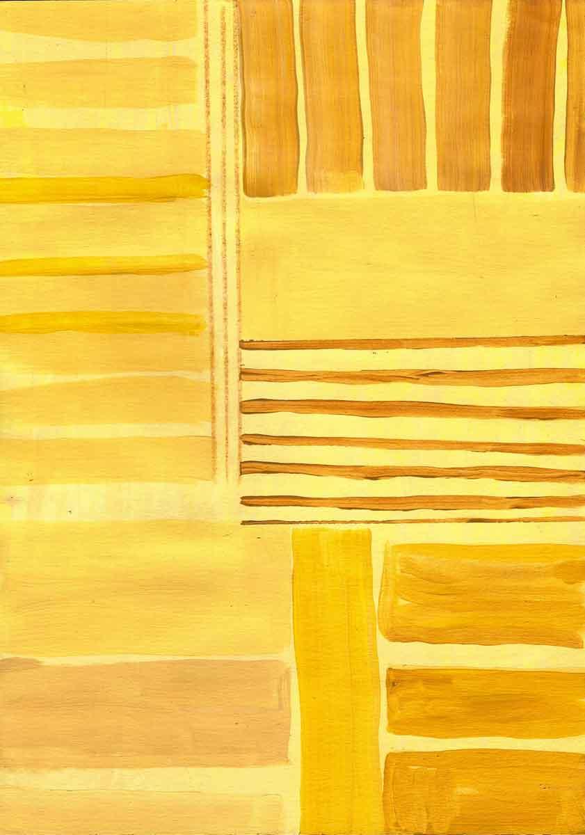 Janet Jaffke - monochromatic stripes in yellow #2