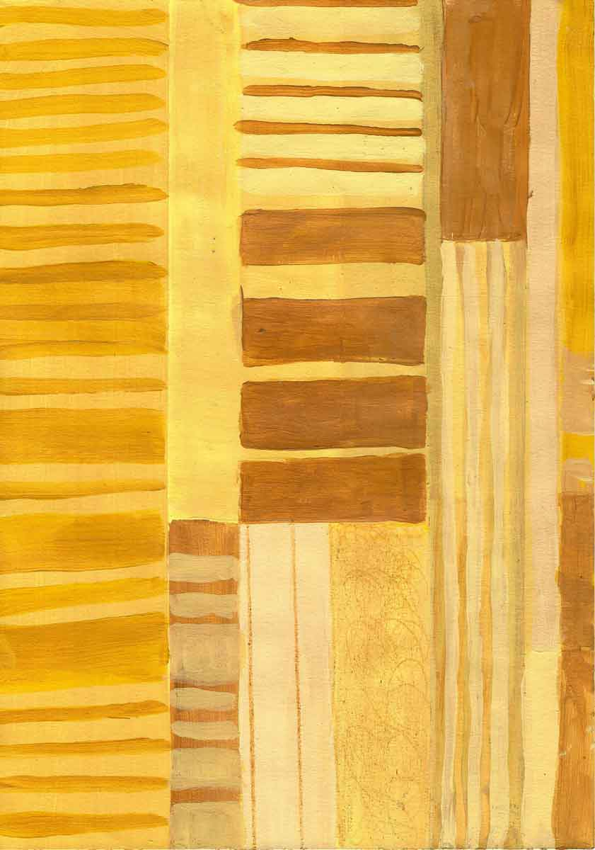 Janet Jaffke - monochromatic stripes in yellow #1