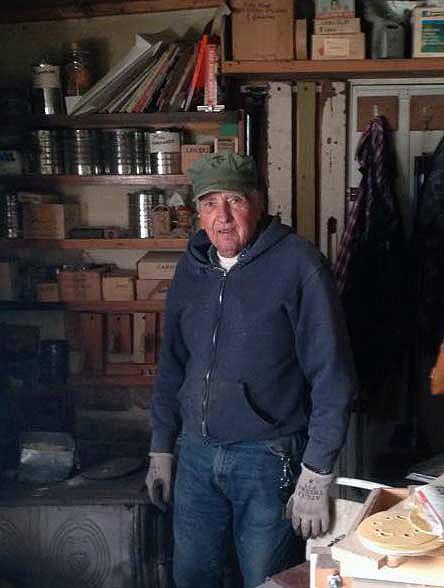 George Jaffke in his workshop