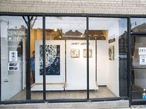 Gallery window opening - artist Janet Jaffke