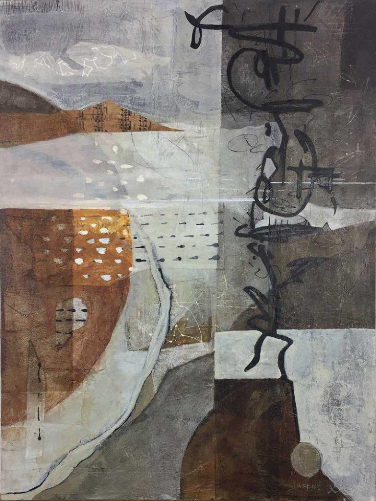 Janet Jaffke acrylic mixed media painting
