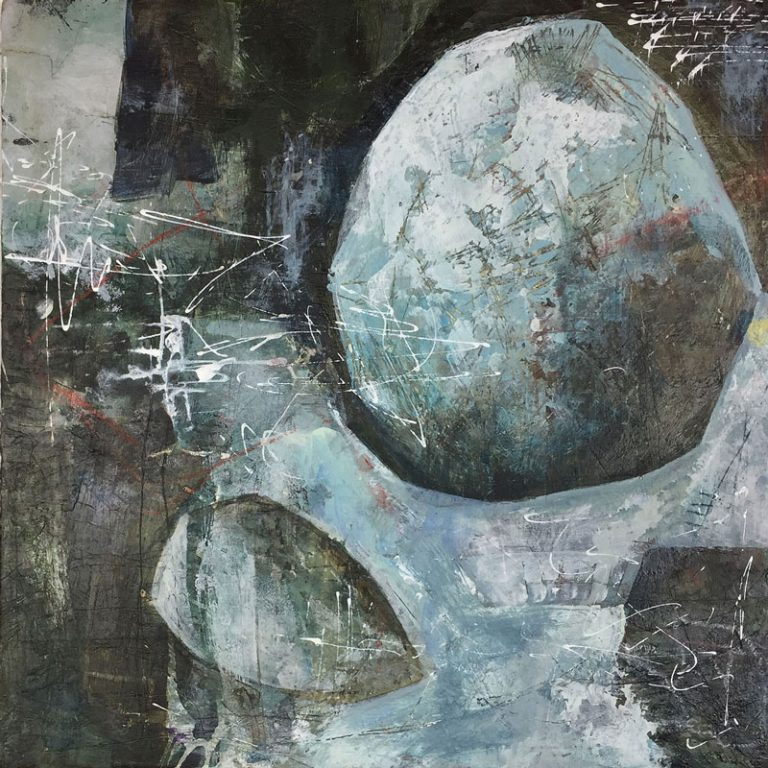 """Janet Jaffke acrylic mixed media painting """"Actual Proof"""""""