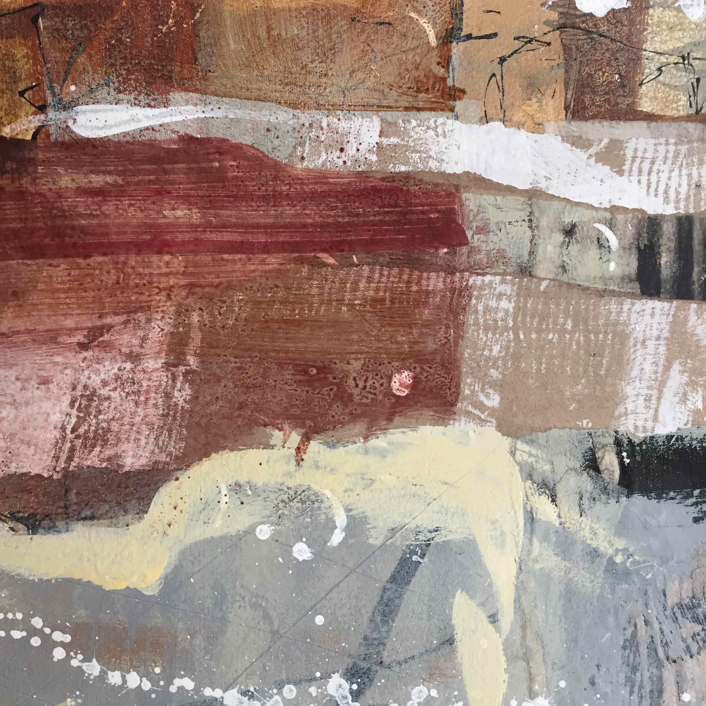 Detail of work done by Janet Jaffke at Blueberry View Artist Retreat