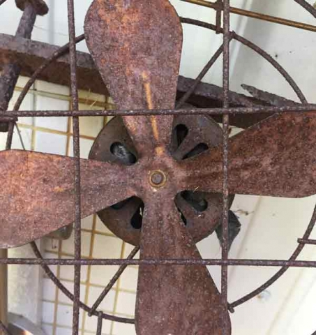 One piece from the rusty metal collection at Blueberry View Artist Retreat