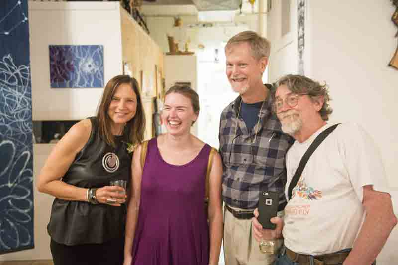 Four art aficianados - Janet, Mac Grambauer, Fletcher Hayes, Michael Segard