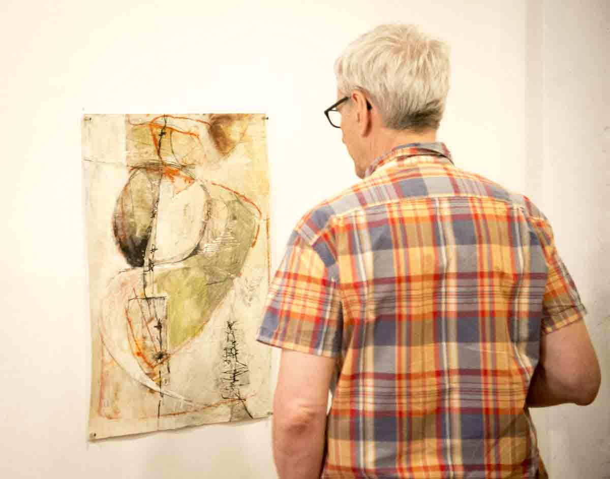 Admiring the art work