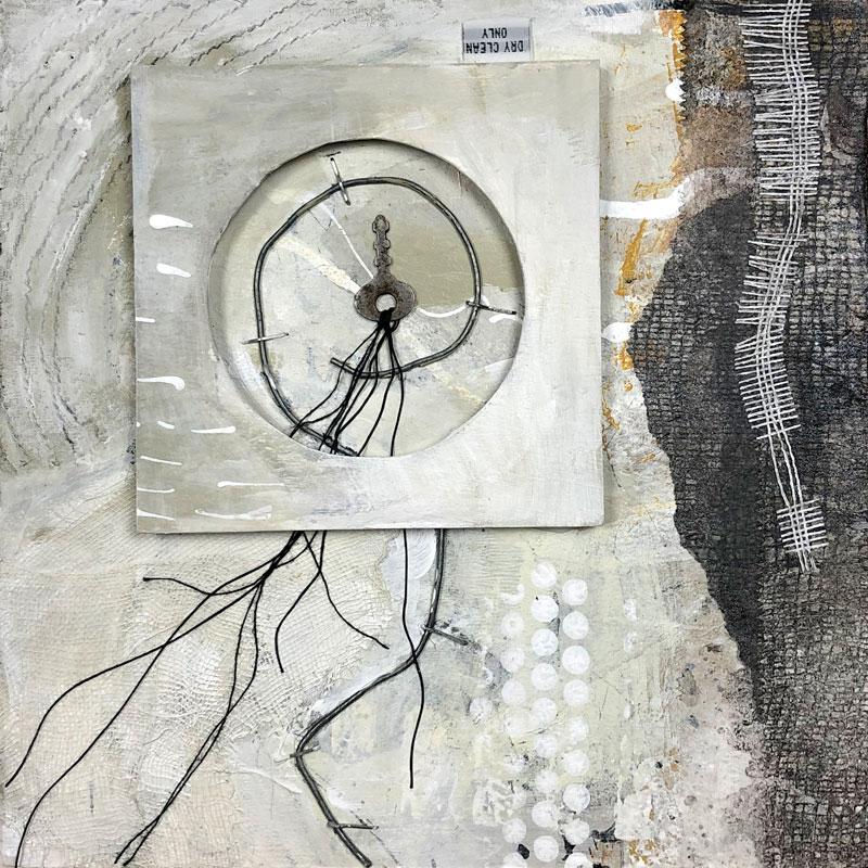 "Janet Jaffke acrylic mixed media painting ""Taking Flight"""