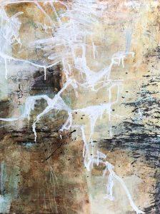 Mixed media on wood by artist Janet Jaffke