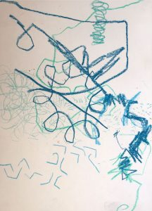 Janet Jaffke - crayon line exercise