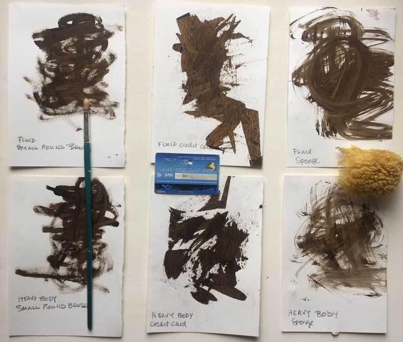 Results from different brushes
