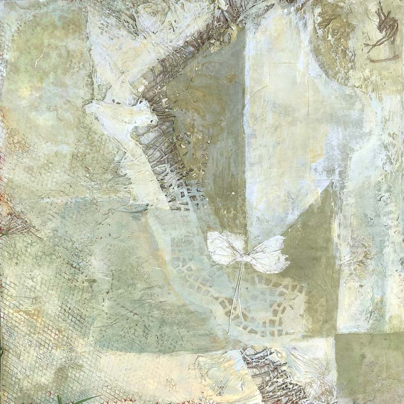 Mixed media on wood panel by Janet Jaffke