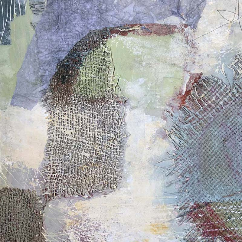 Detail of mixed media by Janet Jaffke