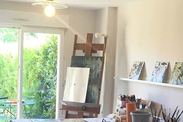 Janet Jaffke's studio in Alsace France