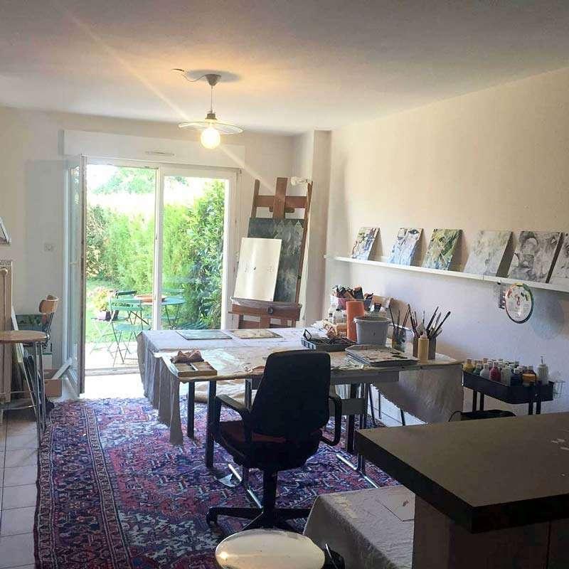 Janet Jaffke's studio in France
